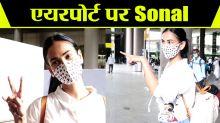 Actress Sonal Chauhan spotted at Airport; Check Out