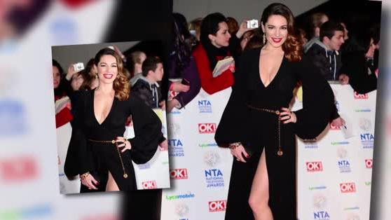 Kelly Brook Wears Plunging Thigh-Split Gown at the NTAs