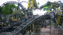 Alton Towers Smiler rollercoaster breaks down AGAIN as riders are left stranded for 45 minutes