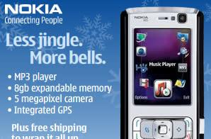 Nokia ad features funny looking N95 -- or N95 8GB?
