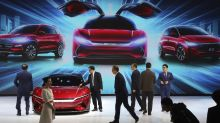China's electric car sales slump, squeezing automakers