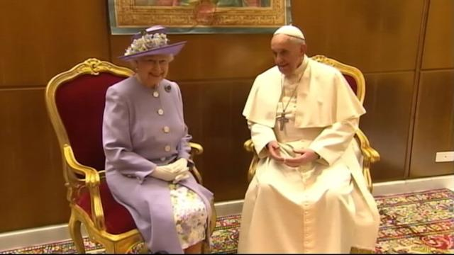 Her Majesty Meets His Holiness at the Vatican
