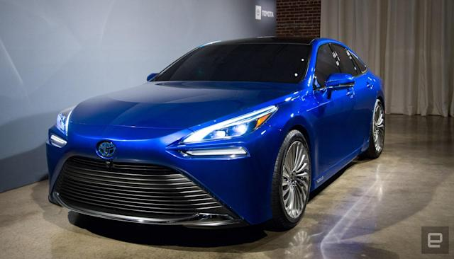 Toyota's hydrogen fuel-cell Mirai gets a new, luxurious look