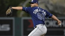Angels pick up reliever Strickland from Rays