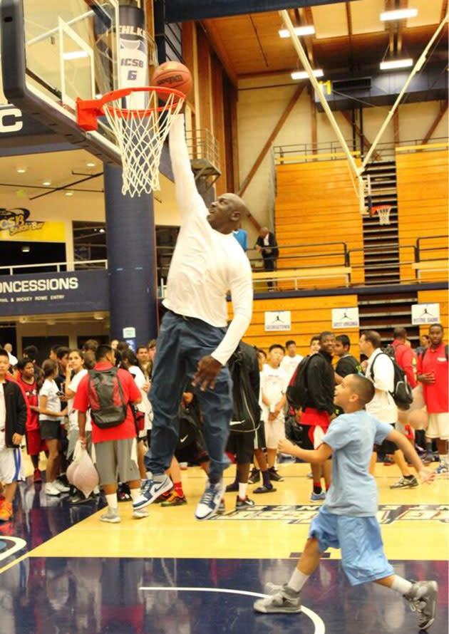 Michael Jordan Can Still Dunk At Age 50 Video