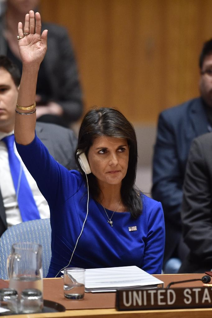US Ambassador Nikki Haley warned her UN counterparts that although the mission was designed as a one-off, that did not preclude further action against Assad (AFP Photo/HECTOR RETAMAL)