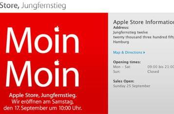 Hamburg, Germany Apple Store to open this weekend