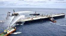 Feuer an Bord von verunglücktem Öl-Tanker vor Sri Lanka erneut ausgebrochen
