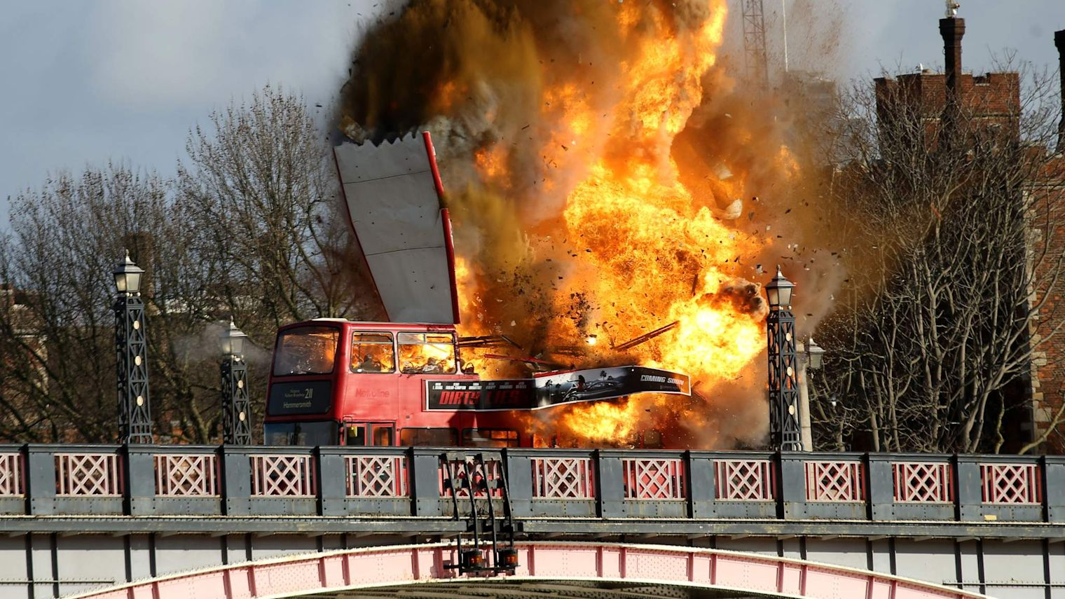 London Bus Explodes For Jackie Chan Film Stunt