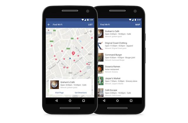 Facebook's WiFi locator is available to users worldwide