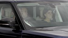 Princess Eugenie and Jack Brooksbank arrive at Windsor Castle ahead of royal wedding