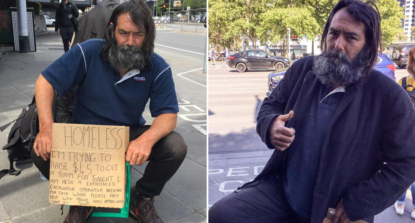 Homeless tradie receives dozens of job offers after executive's plea