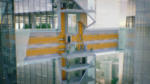 This real-life Willy Wonka elevator zips up, down, across, and sideways