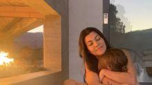 Fans Spotted Younes Bendjima in a Reflection in Kourtney Kardashian's Latest Insta