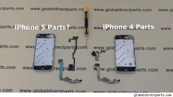 iPhone 5 parts caught on video?