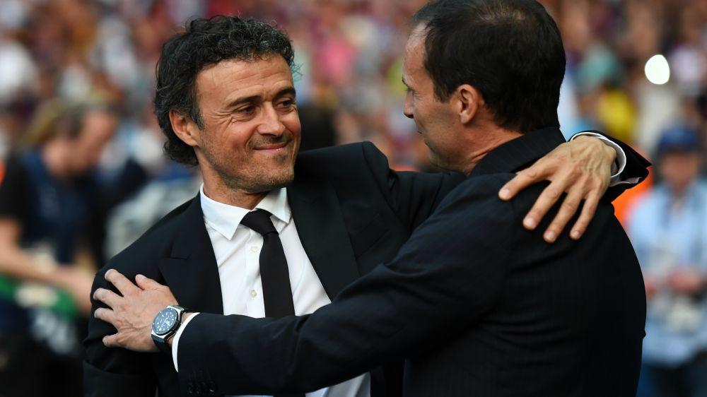 """Juventus Turin, Allegri : """"Enrique peut laisser au repos Messi, Neymar, Iniesta et Suarez"""""""