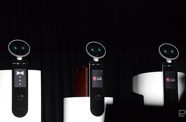 People don't want to talk to LG's big friendly robots