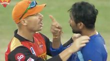 David Warner steps in after fiery end to IPL match