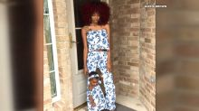 Texas mom makes fashionable matching outfits for her and toddler daughter