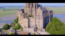Drone Captures Stunning Footage of Le Mont Saint-Michel in Normandy