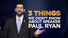 Three things we didn't know about Paul Ryan