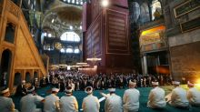 Erdogan leads first Muslim prayer after Hagia Sophia declared a mosque