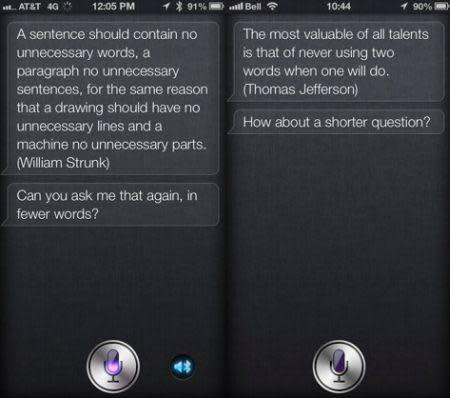 Siri update prompts users to be brief