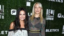 Kate Hudson and Demi Lovato Find the Balance Between Sexy and Girly at Fabletics Event