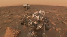 NASA's Curiosity rover snapped an amazing selfie as it was swallowed by a Martian dust storm