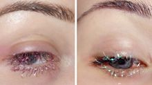 Behold These Perfectly Timed Glitter Tinsel Lashes