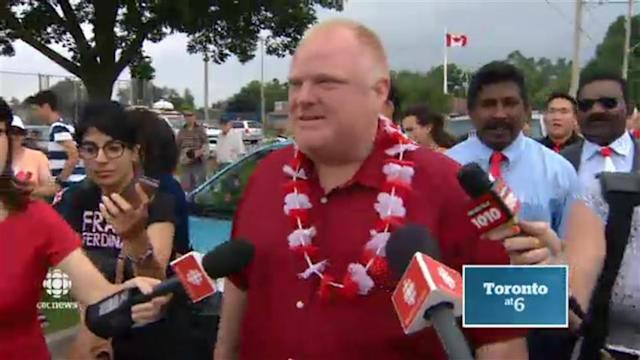 Rob Ford heckled at Canada Day parade