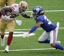 Banged up 49ers win again at MetLife, beat winless Giants