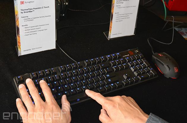 Watch Synaptics' touch-sensitive space bar in action
