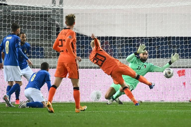 Donny van de Beek got the equaliser for the Netherlands in their 1-1 draw in Italy