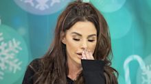 Katie Price breaks down live on TV while talking about terminal illness her mum and Keith Chegwin shared