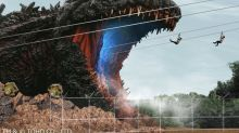 You can zip-line into Godzilla's mouth at this life-sized attraction in Awaji, Japan