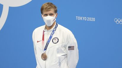 Mask-wearing on the medal stand has gotten absurd