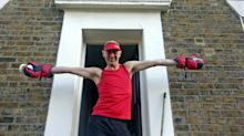 Neighbourhood doing doorstep aerobics to keep fit during coronavirus restrictions