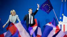 World stocks power to record high and euro jumps as French vote result sparks relief rally