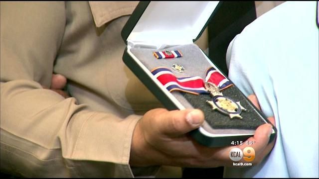 Sheriff's Deputy Receives Congressional Badge For Bravery