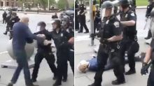 Heartbreaking development for protester shoved to the ground by cop
