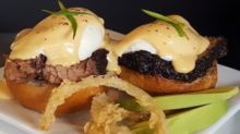 Emeril Lagasse's eggs Benedict with smoked beef brisket recipe