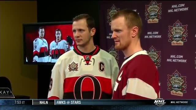 Canucks-Sens unveil Heritage Classic jerseys