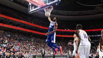 Joel Embiid's showboating windmill dunk backfires in spectacular fashion
