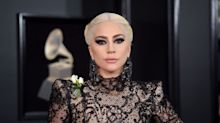 Lady Gaga Wears See-Through Lace Gown With Wild Hair to the 2018 Grammys
