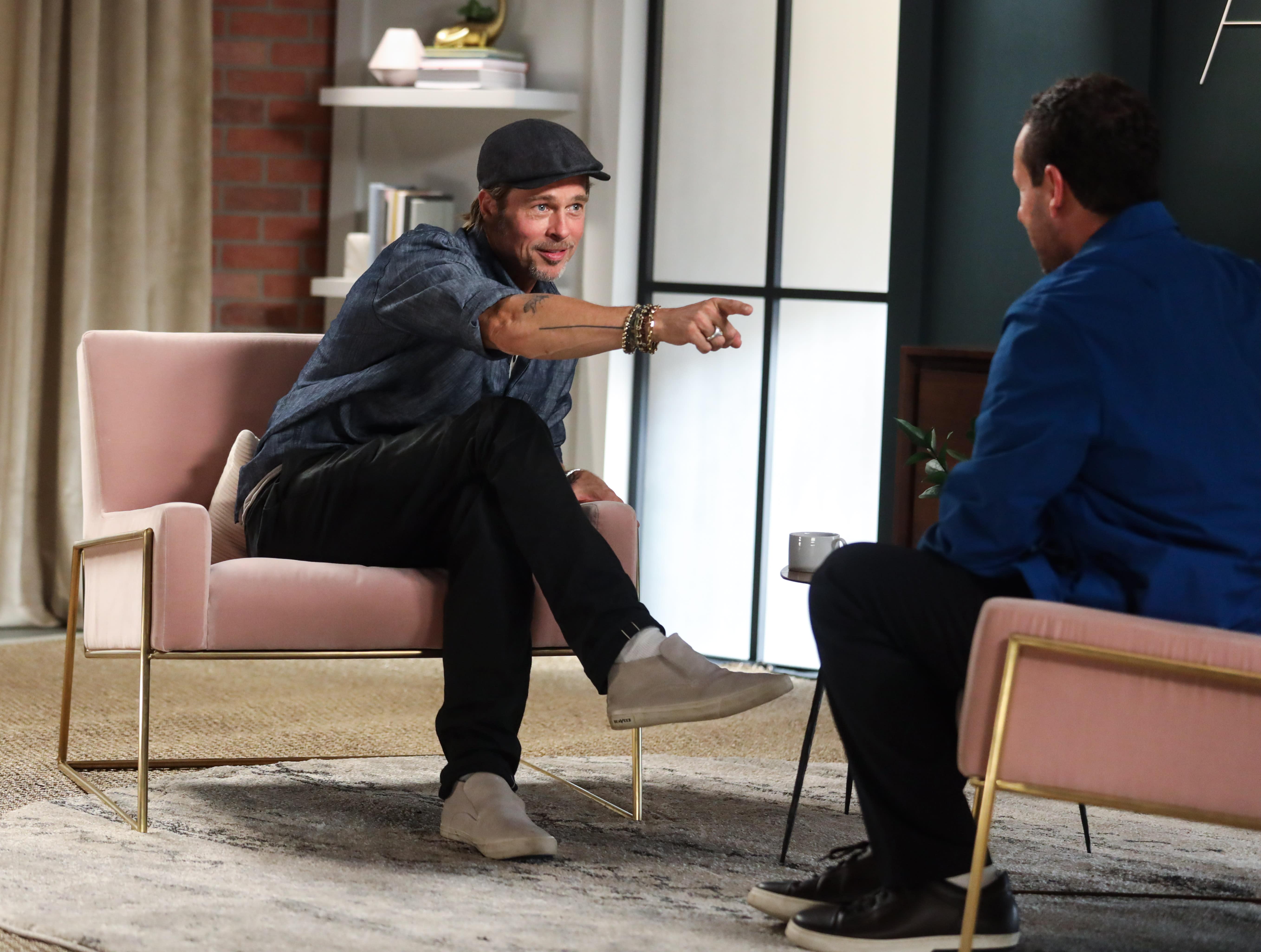 Brad Pitt and Adam Sandler Debate the Pros and Cons of Netflix - Yahoo Entertainment