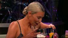 Kim Kardashian Drinks Something Really Gross To Avoid Tough Question