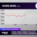 China stocks tumble amid regulatory crackdown