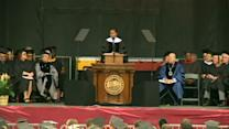 """""""Go out there and make it happen""""-Michelle Obama to graduates"""