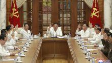 N. Korean leader calls for readiness against virus, typhoon